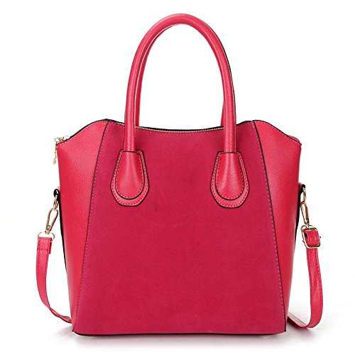 Hot Sale! Bag fashion bags patchwork nubuck women's handbag smiley shoulder bags (Rose - Laurent Shopping Bag Saint