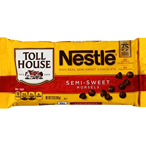 Toll House NESTLE Real Semi-Sweet Chocolate Morsels 12 oz. Bag (Free Gluten Nestle Chocolate)