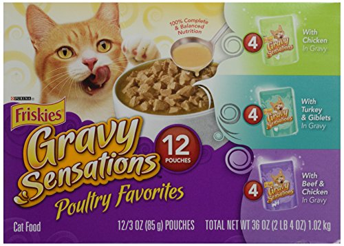 Friskies Poultry Favorites Cat Food, Variety Pack, 12 Pouche