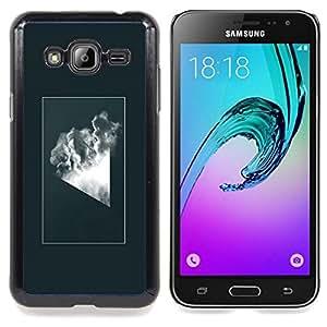SKCASE Center / Funda Carcasa protectora - Geometría abstracta Nube;;;;;;;; - Samsung Galaxy J3 GSM-J300