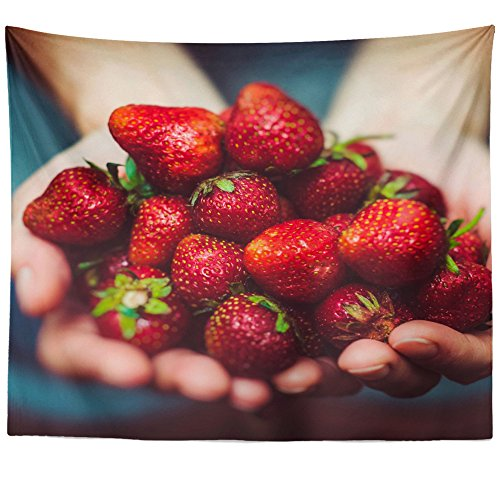 Festival Tapestry Strawberry (Westlake Art Strawberry Berry - Wall Hanging Tapestry - Picture Photography Artwork Home Decor Living Room - 68x80 Inch (BC28-9F1EA))