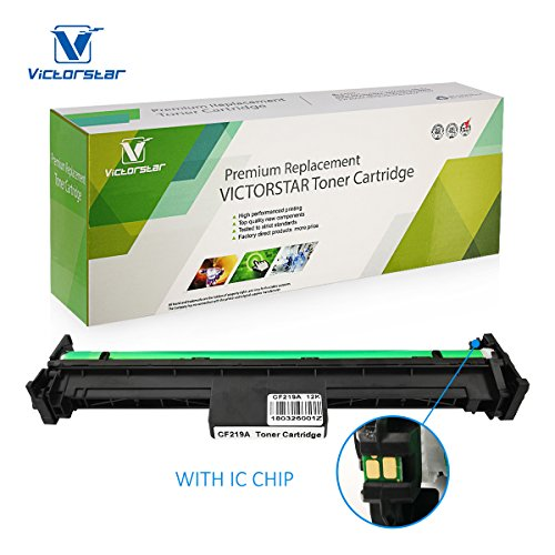 Compatible Drum Unit CF219A 19A with Chip VICTORSTAR for use in HP Laserjet Pro M102a M102w, Laserjet Pro MFP M130fn M130fw M130nw M130a Printers (Drum) ()