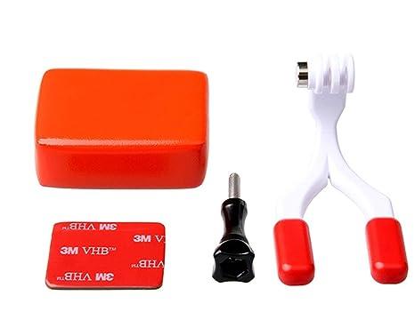 Soporte para Dientes, Soporte para Buceo + Flotador de Esponja 3M Adhesivo para GoPro Hero