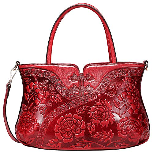 PIJUSHI Designer Floral Handbag for Women Top Handle Satchel Bags Cheongsam Shoudler Bag (22332 -