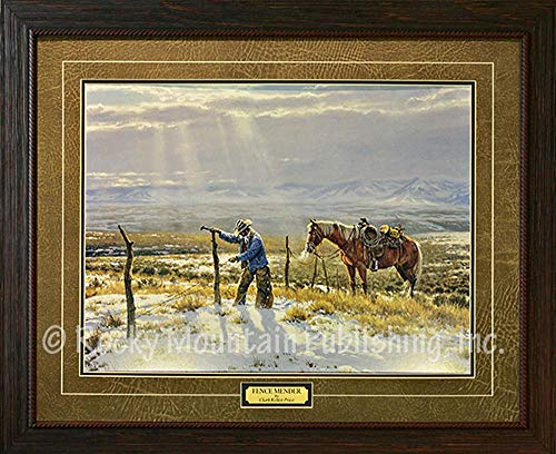 - Clark Kelley Price Fence Mender - Custom Framed - Open Edition Paper Print Ready to Hang on Your Wall