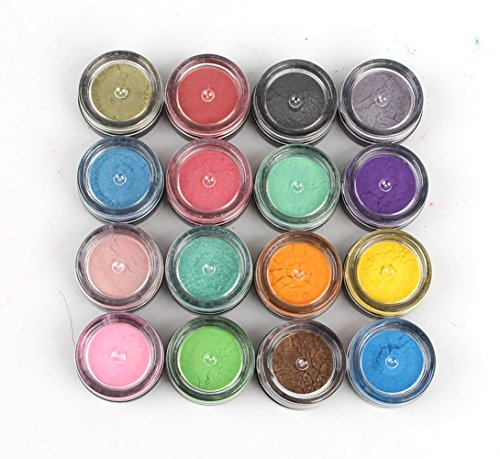 Soap Dye Mica Powder Pigments for Bath Bombs Soap Making Colorant Set,16 Colors by Sun Cling