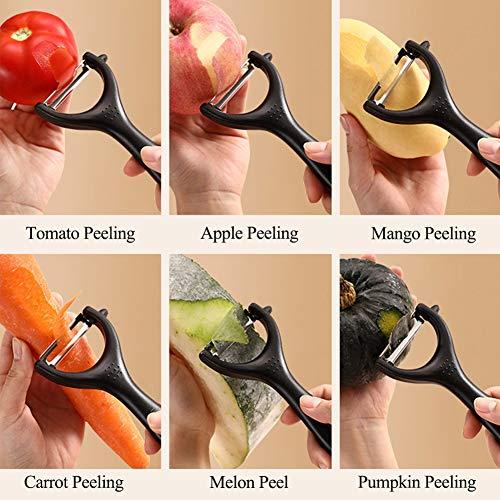 DCYSO Potato Peeler 3-Pack Fruit Vegetable Peeler for Kitchen (Colors)