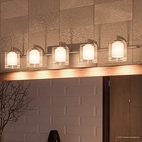 luxury modern bathroom vanity light large size 6 h x 42 w with rh amazon com