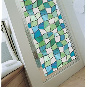 Niviy Privacy Window Covering Brick Stained Glass Window