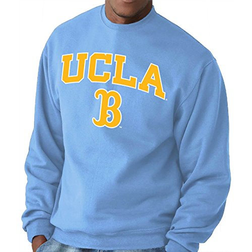 Campus Colors UCLA Bruins Adult Arch & Logo Gameday Crewneck Sweatshirt - Light Blue, Medium