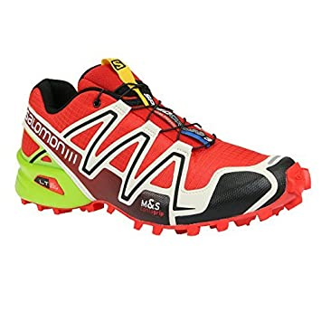 Salomon Speedcross 3 Trail Laufschuhe radiant red light grey