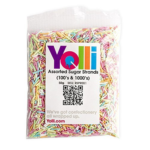 50g Assorted Coloured Sugar Strands