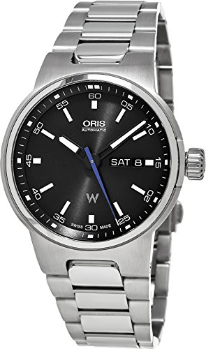 F1 Team Day Date Watch (Oris Williams F1 Team Day Date Automatic Black Dial Stainless Steel Mens Watch 01 735 7716 4154-07 8 24)