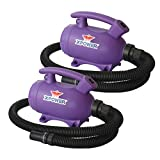 XPOWER B-55 - 2 HP Portable Home Dog Dryer Special 2-Pack (Purple)