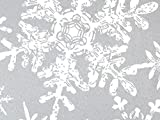 Pack Of 1, Christmas Snowflakes Silver 24'' X 417 Roll Christmas Premium Gift Wrap Papers For 175 -200 Gifts Made In USA