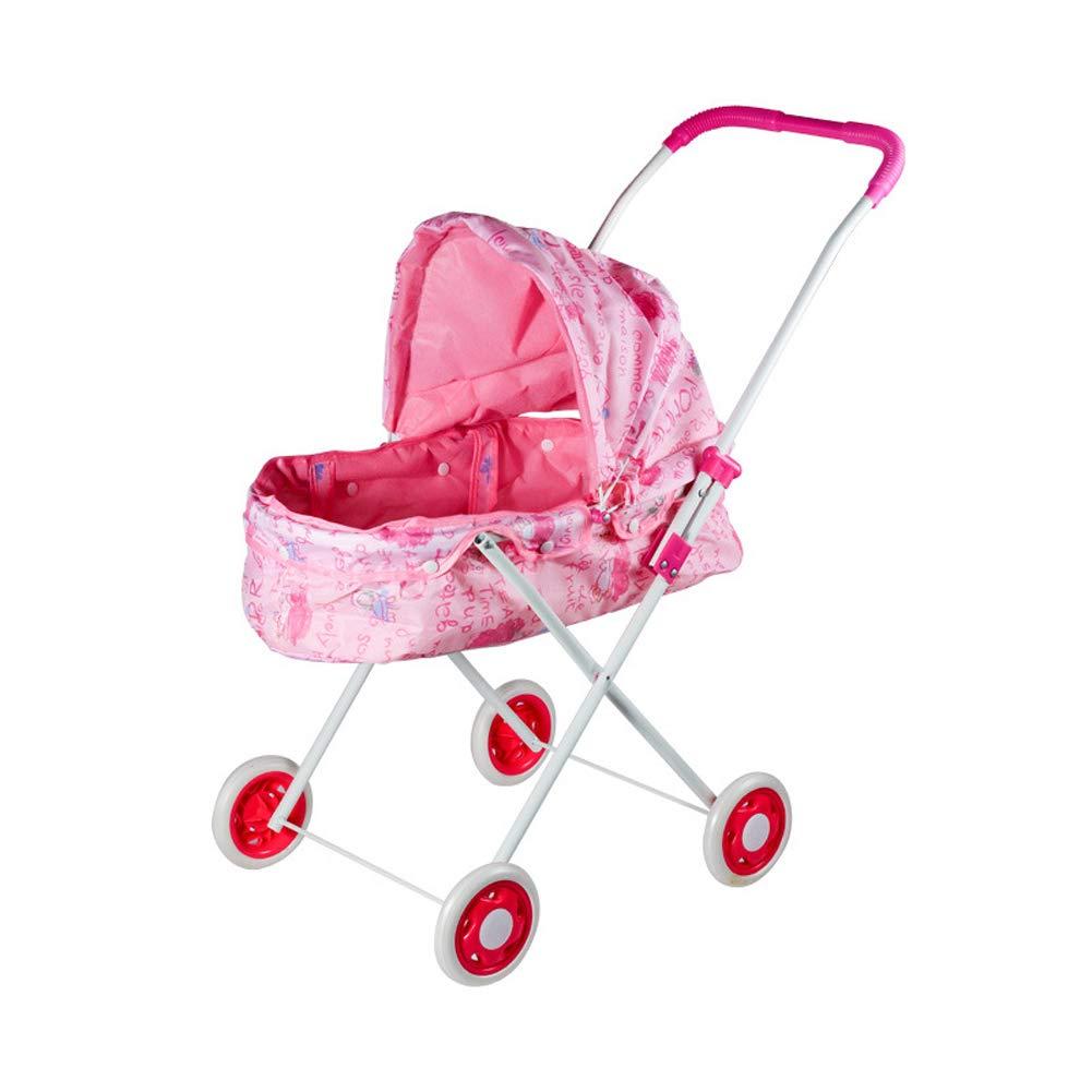 Homesave Faltbare Doll-Kinderwagen-Kunststoffe Mit Schwenkrädern Großes Geschenk Für Kleinkinder