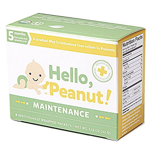 Price comparison product image Hello,  Peanut! Maintenance System for A Gradual Way to Introduce Your Infant to Peanuts,  Follow Up to Introduction,  Allergist Approved,  All Natural,  USDA Organic (8 packets)