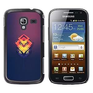 Caucho caso de Shell duro de la cubierta de accesorios de protección BY RAYDREAMMM - Samsung Galaxy Ace 2 - Naranja Cubo Fundido
