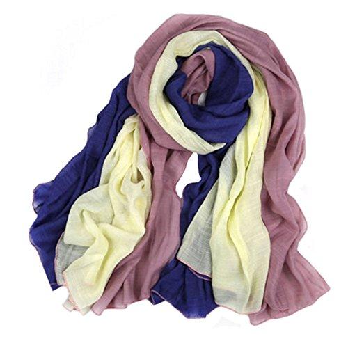 Foulards colorés de mode wrap confortable Echarpe Châle des femmes, B