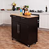Heavy Duty Utility Modern Rolling Kitchen Cabinet Cart - By Choice Products
