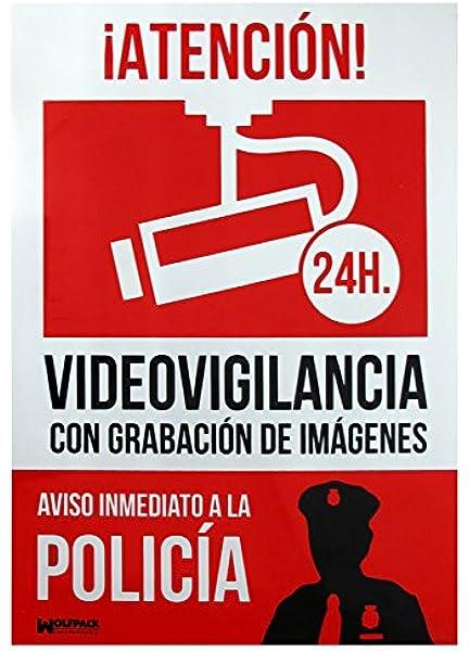 Cartel Alarma Conectada Aviso a Policia 30x21: Amazon.es: Industria, empresas y ciencia