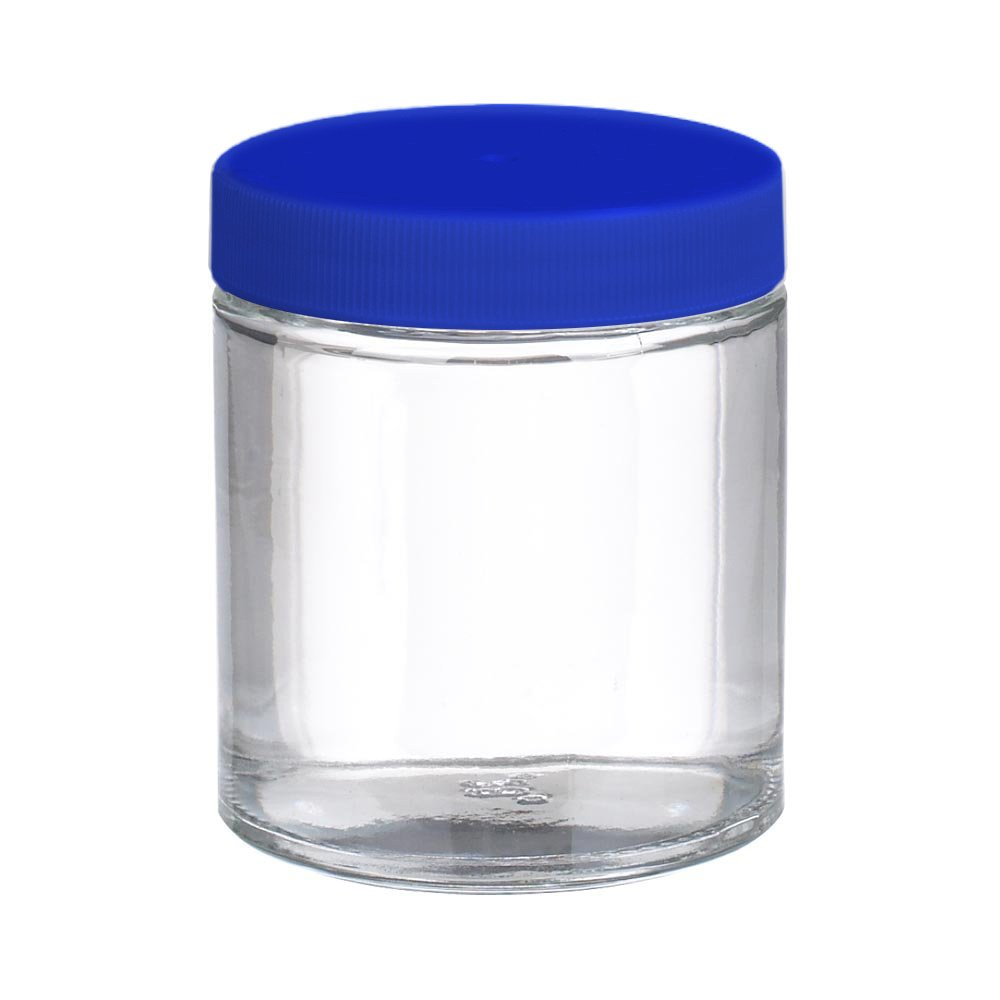 I-Chem Brand 320-0500 Clear Glass 500mL 300 Series Type III Wide Mouth Jar, with PTFE-Lined Polypropylene Closure, Short, Certified (Case of 12) by I-Chem (Image #1)