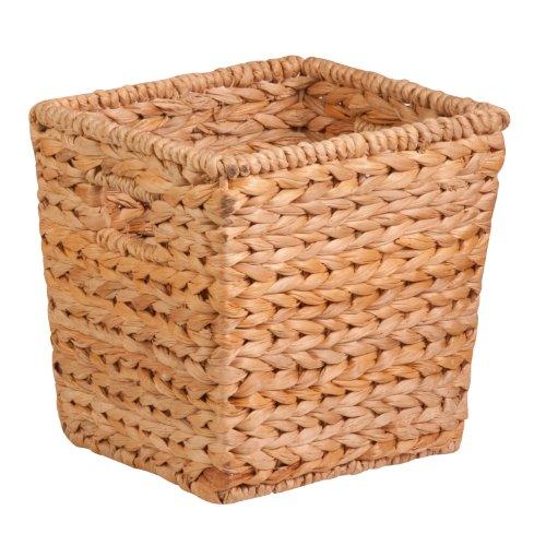 - Honey-Can-Do STO-02886 Square Water Hyacinth basket, Medium, 10.5 L x 10.5 W x 10.5 H