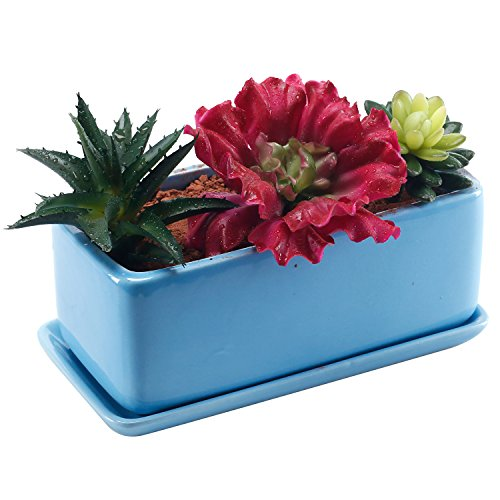 Rectangular Ceramic Windowsill Planter Decoration