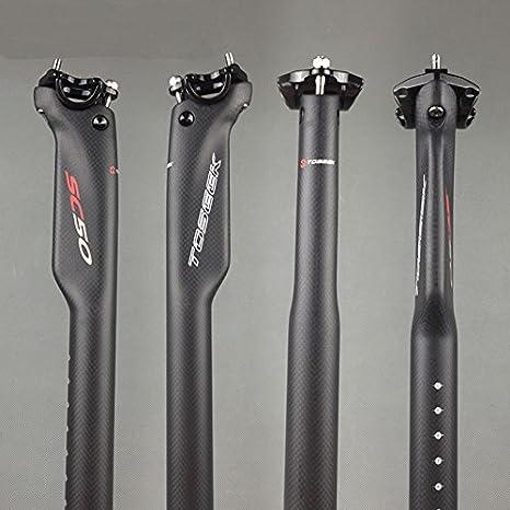 Flashfox SC50 - Tija de sillín de Fibra de Carbono para Bicicleta ...