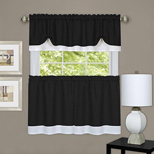 Achim Home Furnishings DRTV36BW12 Darcy Window Curtain Tier
