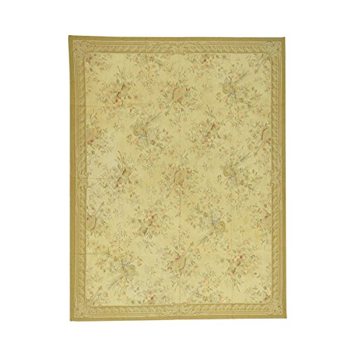 Hand Woven Aubusson Tapestry (Aubusson Tapestry Flat Weave Hand-Woven Musical Instruments Rug (8' x 10'2