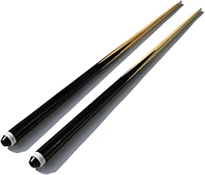 "TGA SPORTS 36"" Hardwood Billiard/Pool House Cue Stick - Set of 2, Shorty Cues"