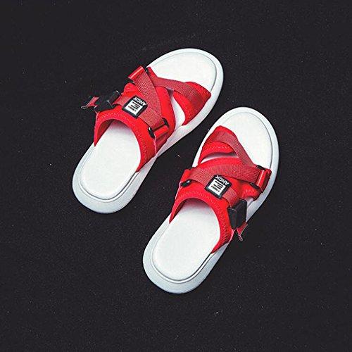 Drag Flip Usure Sandales Plate 5 L'extérieur À UK3 Cool Red EU36 Chaussures Chaussures Plage Mode Bottom Épaisse Femme Pantoufles Forme Flop Taille De Couleur Xy® Red CN35 Étanche Été 5Hwv5dq