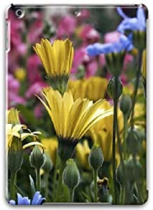 Apple iPad Air Case, Apple iPad Air 3D Cases Hard Shell White Cover Skin Cases Stunning Flower