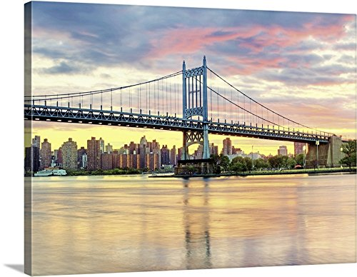 Canvas on Demand Premium Thick-Wrap Canvas Wall Art Print entitled Triboro Bridge taken from Astoria Queens NYC (Astoria Outdoor Wall)