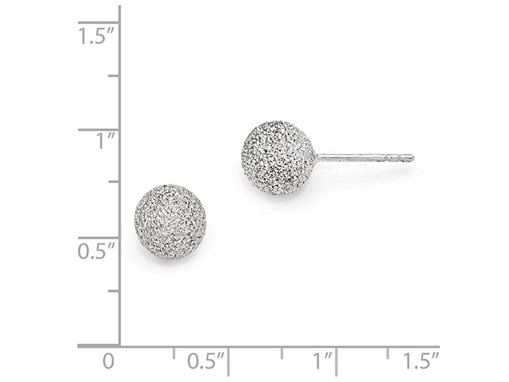 Finejewelers Sterling Silver Radiant Essence Rhodium-plated Ball Post Earrings