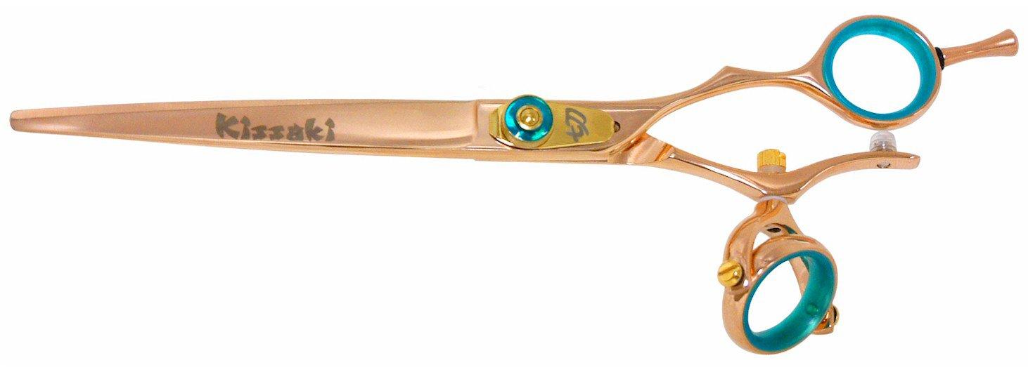 Kissaki Hair Scissors Gokatana 7.0'' Double Swivel Rose Gold B Titanium Hair Cutting Shears by Kissaki (Image #1)
