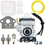 Carburetor fit Echo ProLite PB-260L Air Fuel Line Filter Parts Kit Backpack Blower HCA-260 HCA-261 PE-260 PE-261 PPT-260 PPT-261 SHC-260 SHC-261 SRM-260 SRM-260S SRM-260SB SRM-260U String Trimmer