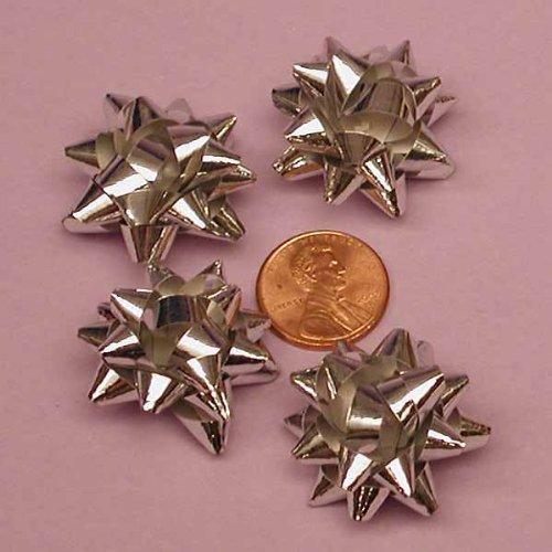 - Silver Metallic Confetti Bows, 1