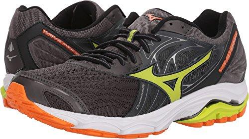 Mizuno Men's Wave Inspire 14 Running Shoe, Magnet/Lime Punch 11 from Mizuno