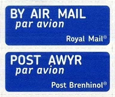 Royal mail airmail stickers