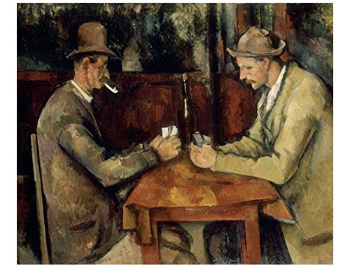 Alonline Art - Card Players Paul Cezanne VINYL STICKER DECAL 41