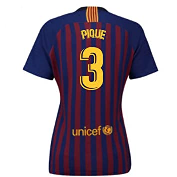 2018-2019 Barcelona Home Nike Ladies Football Soccer T-Shirt Camiseta (Gerard Pique