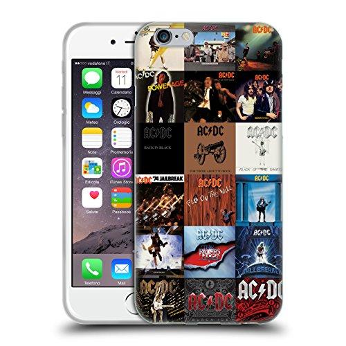 Officiel AC/DC ACDC Couvertures d'Album Collage Étui Coque en Gel molle pour Apple iPhone 6 / 6s