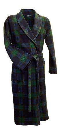 9c9067ed614981 Lloyd Attree & Smith Robe de chambre ecossais en maille polaire en tartan  Black Watch