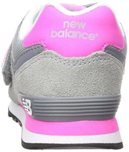New Balance 574, Zapatillas Altas Unisex Niños Multicolor (Grey/Pink 026)