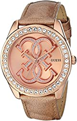 GUESS Women's U0208L1 Dazzling Iconic Logo Rose Gold-Tone Watch