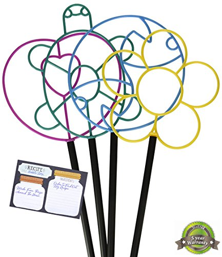 Nature's Footprint All season Giant Bubble Wands - Flexible plastic - 5 Year Warranty - includes recipe for bubble wand mix (Set of 6) ()