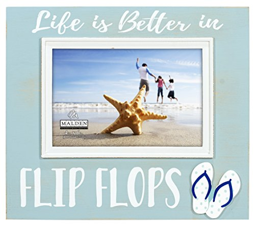 Flip Flop Photo Frames (Malden International Designs 3363-46 4X6 Life IS Better Flip Flops)