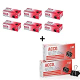 ACCO Small Binder Clips, Steel Wire, 5/16 Cap., 3/4w, Black/Silver, 6 Packs (ACC72020X6) Bundle with Binder Clips, Medium, 24 Count